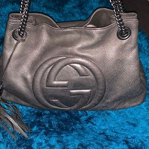 Authentic Gucci Soho chain strap handbag